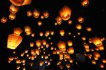 sky lanterns by Patrick Lin / AFP / Getty Images from LA Times