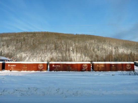 alaska train cars in Fox